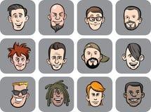 Diverse men faces vector illustration Stock Photo