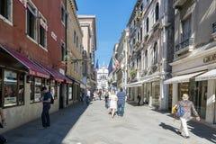 Diverse meningen van de toeristenstad van Venetië, Italië stock fotografie