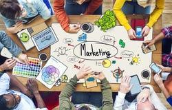 Diverse Mensen die en Concepten werken op de markt brengen stock foto