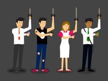 Diverse mensen die smartphones bekijken royalty-vrije illustratie