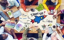 Diverse Mensen en Start Bedrijfsconcept Stock Foto