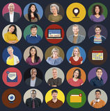 Diverse Multi Ethnic People Technology Media Concept Stock Photos