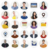 Diverse Multi Ethnic People Technology Media Concept Royalty Free Stock Photo
