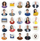 Diverse Multi Ethnic People Technology Media Concept Royalty Free Stock Images