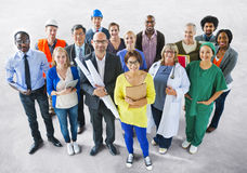 Diverse Multiethnic People with Different Jobs.  royalty free stock photo