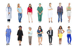 Diverse Multiethnic People with Different Jobs Royalty Free Stock Photography