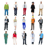 Diverse Multiethnic People with Different Jobs Royalty Free Stock Image