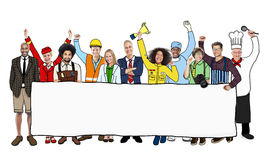 Diverse Multiethnic People with Different Jobs Stock Images