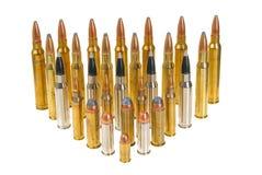 Diverse munitie Royalty-vrije Stock Afbeeldingen
