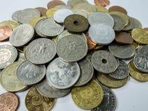 Diverse muntstuktypes op witte achtergrond Royalty-vrije Stock Afbeeldingen