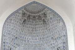 Diverse muqarnas decoration in Guri Amir mausoleum Stock Image