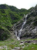 Diverse Narrow Waterfalls in the Lower Himalayas Royalty Free Stock Image