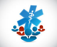 Diverse network and medical concept Stock Images