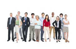 Diverse Occupational People in White Background Royalty Free Stock Images