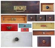 Diverse oude laden Stock Afbeeldingen