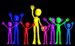 Diverse Party Crowed. Concept image showing a diverse crowed partying Royalty Free Stock Images