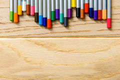 Diverse pencils in bright colors Stock Photography