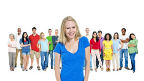 Diverse People with a Beautiful Caucasian Stock Images