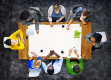 Diverse People Brainstorming in a Meeting Royalty Free Stock Photos