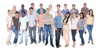 Diverse people in casuals Stock Images