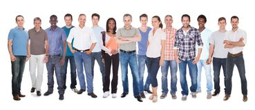 Diverse people in casuals Stock Photo