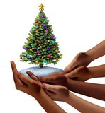 Diverse People Christmas Holiday royalty free illustration