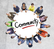 Diverse People in a Circle with Community Concept Royalty Free Stock Image