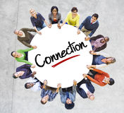 Diverse People in a Circle with Connection Concept Royalty Free Stock Images