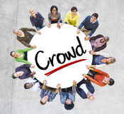 Diverse People in a Circle with Crowd Concept.  royalty free stock photos