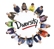 Diverse People in a Circle with Diversity Concept Stock Photo