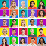 Diverse People on Colorful Background Royalty Free Stock Photos