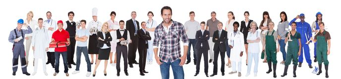 Diverse people with different occupations Royalty Free Stock Photos
