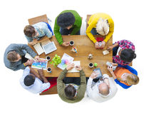 Diverse People Discussing Business Plan Royalty Free Stock Photos