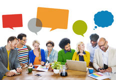 Diverse People Discussing About New Ideas.  Royalty Free Stock Photo