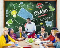 Diverse People Discussion Meeting Marketing Brand Concept.  Royalty Free Stock Photos