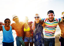 Diverse People Friends Fun Bonding Beach Summer Concept Royalty Free Stock Photo
