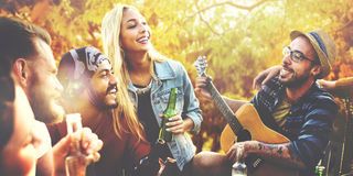 Diverse People Friends Hanging Out Concept Royalty Free Stock Photos