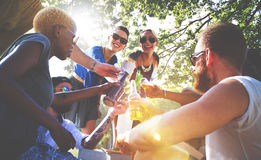 Diverse People Friends Hanging Out Concept Royalty Free Stock Photography