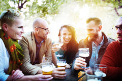 Diverse People Friends Hanging Out Drinking Concept Royalty Free Stock Photo