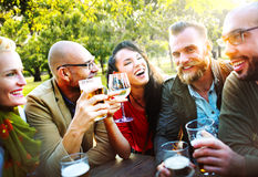 Diverse People Friends Hanging Out Drinking Concept Royalty Free Stock Photos