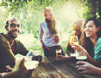 Diverse People Friends Hanging Out Drinking Concept Stock Image