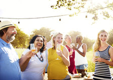 Diverse People Friends Hanging Out Drinking Concept Stock Photography