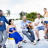 Diverse People Friends Hanging Out Drinking Concept Royalty Free Stock Image