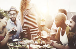 Diverse People Friends Hanging Out Drinking Concept Royalty Free Stock Images