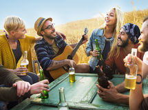 Diverse People Friends Hanging Out Happiness Concept Stock Images