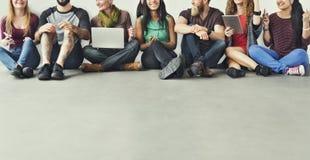 Diverse People Friendship Digital Device Connection Concept.  Stock Photo
