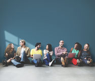 Diverse People Friendship Digital Device Copy Space Concept royalty free stock photography