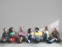 Diverse People Friendship Digital Device Copy Space Concept Royalty Free Stock Image