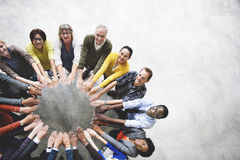 Diverse People Friendship Togetherness Connection Aerial View Co royalty free stock image