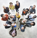 Diverse People Friendship Togetherness Happiness Aerial View Con Stock Photography